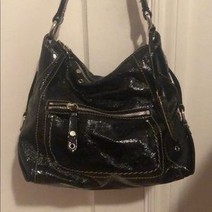 Cole Haan Smaller Black Patent Leather Bag
